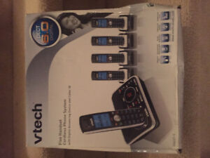 Vtech 5 Headset Cordless Phone System with Digital Ans. Machine