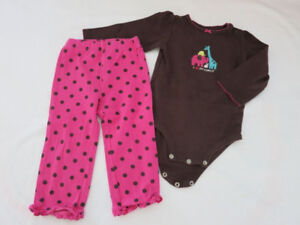 NEW - Carter's Long Sleeves 2-Piece Pajama (Girl 24 months)