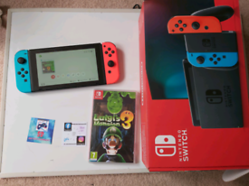 Nintendo switch boxed 2 months old