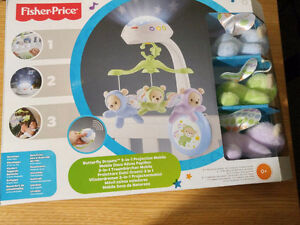 NEW: Fisher-Price Butterfly Dreams 3-In-1 Projection Mobile