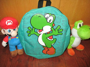 Super Mario plush toys and toddler back pack