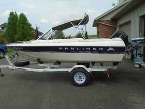 BAYLINER 1604 CAPRI BOWRIDER WITH 70 H.P. FORCE & 4.5 EVINRUDE