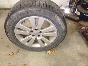FS:5 pereli winter  tires in good shape with 4 mag rims Gatineau Ottawa / Gatineau Area image 4