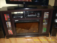 ENTERTAINMENT STAND WITH FIREPLACE