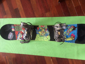 Sims Vice Snowboard 148cm with Ride Bindings