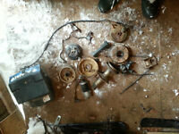 3 Wheeler ATC 200 parts, carb, brakes, Axle, Rack, Trunk, Light