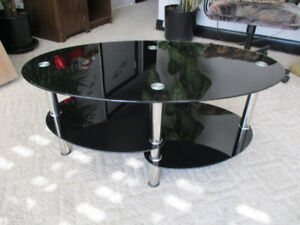 black stainless steel glass coffee table  brand new
