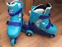 Kids Zinc Tri-Skates Size 9-12 in Blue