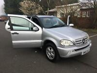 Mercedes-Benz ML270 2.7TD auto CDI. LOW MILEAGE. 104 K. MAIN DEALER HISTORY.