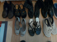 Variety of shoes/boots