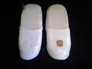 Deluxe Terry Cloth Spa Slippers, New in Original Packaging