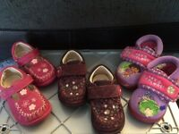 Clarks girls shoes and pair of slippers