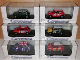 6 x Mini Cooper model cars. BNIB.