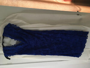 Le Chateau Royal blue dress with beading/bling