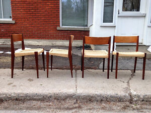 Set of 4 MCM Pia Dining Chairs by Poul Cadovius