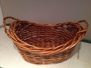 Wicker blanket basket Kitchener / Waterloo Kitchener Area image 1