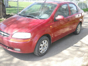 2004 chevy aveo 4 dr , 4cly , 5 spd, 190k , sunroof $2300 obo