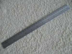 NEAT STAINLESS STEEL RULER in INCHES  and  METRIC