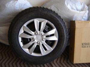 4 Winter Tires, Rims and Wheel Covers, Ready to go