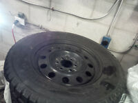 275 65 R18 FORD F150 YOKOHAMA WINTER TIRES AND RIMS