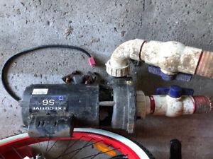 Hot tab water pump