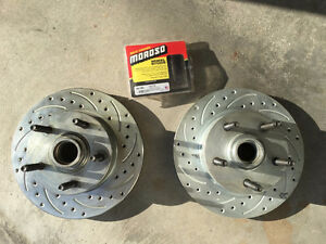"*BRAND NEW* DRILLED & SLOTTED ROTORS WITH 1/2""-20-3"" MOROSO STUD"
