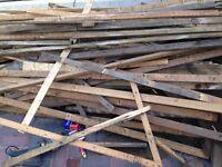 Wood tile battens