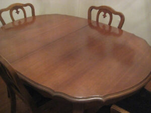 Solid Fruitwood Dining Table & 4 Chairs.
