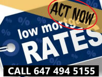 First & Second Mortgages✪Low Rates ! Call(647)494-5155