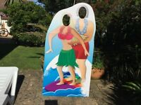 Surfing Couple Cardboard Cutout Ideal for Parties