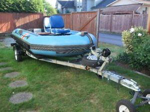 14 foot Inflatable Boat and Trailer