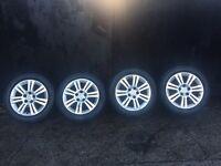 Vauxhall zafira Astra 5 stud genuine Vauxhall alloys tyres good