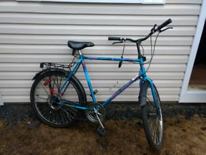 Vélo hybride free spirit ailes et rack