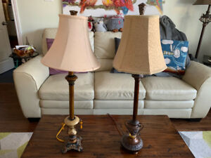 Antique-style table lamps