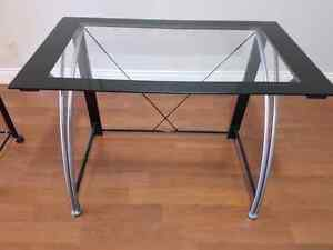 Desk with Tempered Glass Top