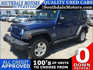 2010 JEEP WRANGLER UNLIMITED SPORT * 4WD * POWER GROUP