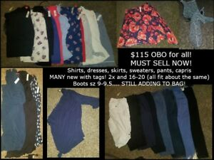 Womens plus size clothing... MUST SELL NOW!