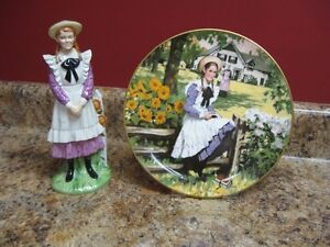 Rare, vintage Anne of Green Gables Coalport figurine and plate