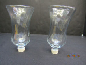 HURRICANE CANDLE HOLDER INSERTS - PAIR - New!