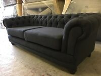Chesterfield 3 seater and 2 seater dark grey /navy £799