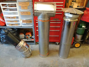 """7"""" insulated wood stove pipe for sale"""