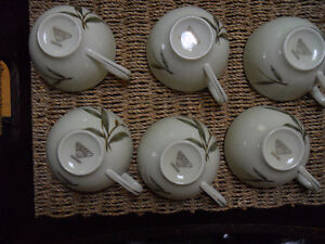 6 pieces fine bone China tea cups (just collecting dust)
