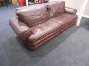 Two Fully Reclining Leather Couches. Great for home Theatre room