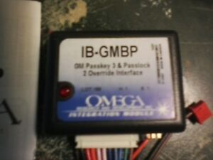 Omega IB-GMBP GM Passkey 3 and Passlock 2 Override Interface