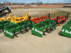 """J Bar 72"""" 3Pt Box Scrapers, Adjustable Rippers, New / Never Used"""