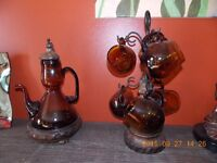 Antique Glass Coffee/Tea Set