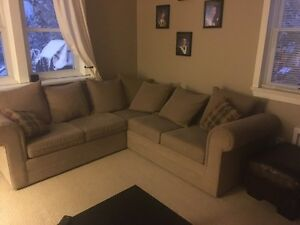 Sectional couch and love seat
