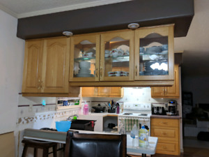 Solid Oak kitchen cabinetry $5000obo (uppers, lowers and pantry)