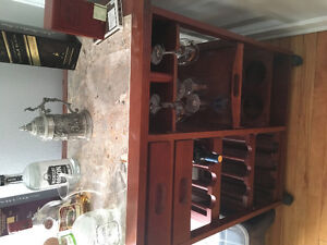 Bar table and wine storage