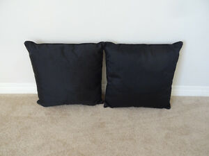 Two small black pillows/decoration/camping